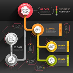 Business marketing infographic template.