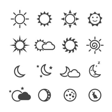 sun and moon icons