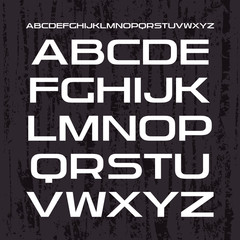 Sans serif font in retro racing style