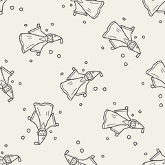 wizard doodle seamless pattern background