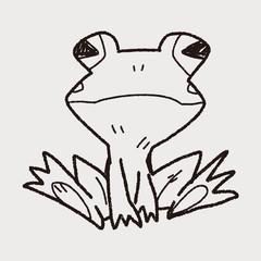 frog doodle