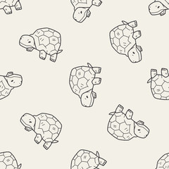 tortoise doodle seamless pattern background