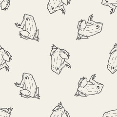 frog doodle seamless pattern background