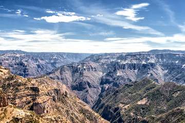 Landscape of Copper Canyon, Chihuahua, Mexico