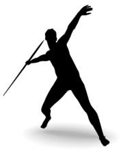 throw spear, vector illustration