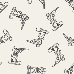 toy soldier doodle seamless pattern background