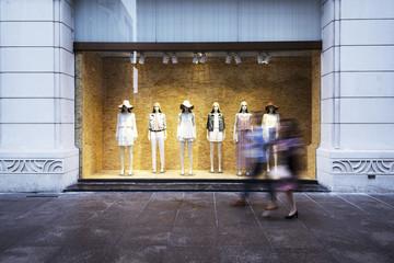 mannequins at shopfront