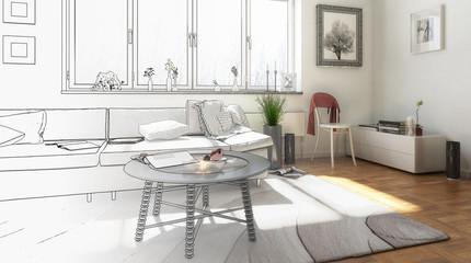Sonne im Wohnzimmer (Entwurf)