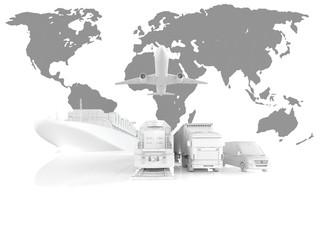 Welthandel mit verschiedenen Transportmöglichkeiten