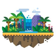 Uninhabited island, jungle