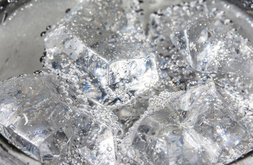 soda with ice and bubble