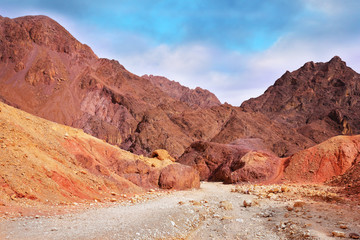 Multi-colored mountains of Eilat, Israel