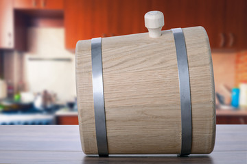 Barrel in the kitchen