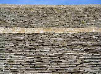 texture of the coverage of a church in the countryside of Puglia