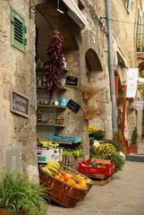 Obst- und Gemüsehändler in Valldemossa, Mallorca