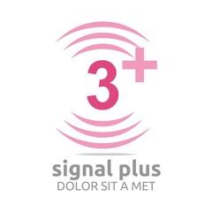 Logo Signal Plus Alphabet Number Wireless