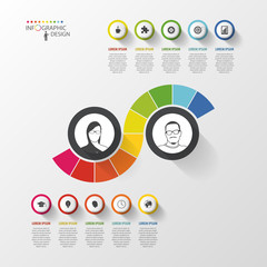 Abstract colorful infographic design template. Vector