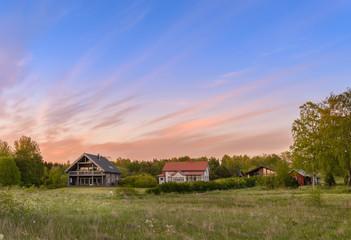 beautiful sunset in Finland Åland Islands