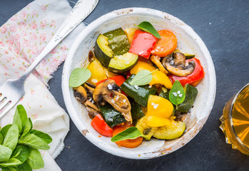 Vegetable stew, ratatouille