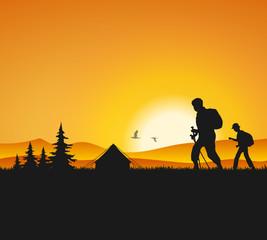 Wanderer Zelten
