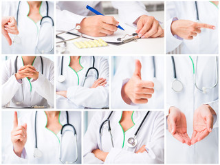 doctor making hand gestures
