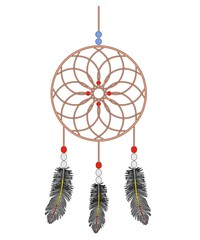 cartoon image of dream catcher