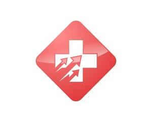 Healthcare Cross Arrow Logo v.2