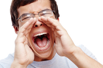 Guy screaming out loud