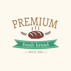 Abstract vector bread vintage logo element. Cakes, bread, bakery