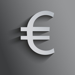 Currency background with euro symbol