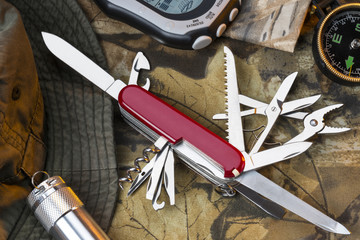 Swiss Army Style Knife - Great Outdoors Wall mural
