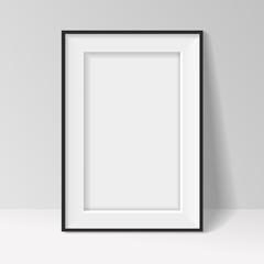 Black frame standing near the walll vector background design