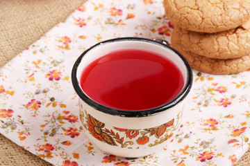compote juice with almond biscuits morning breakfast lunch dinne