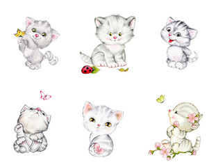 Set of cute kittens