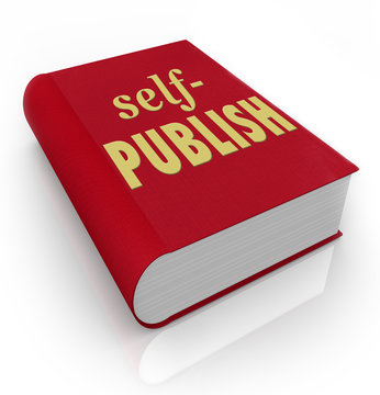 Self-Publish Words Red Book Cover Author Novel