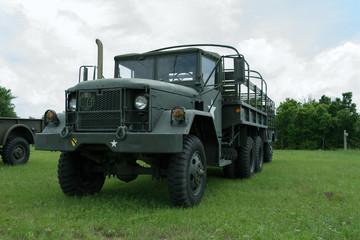 Vintage Army Troop Carrier on display