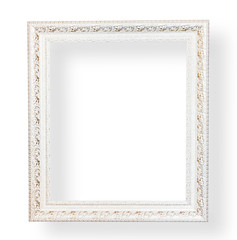 Vintage white frame with decorative.