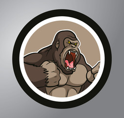 Gorilla Circle sticker