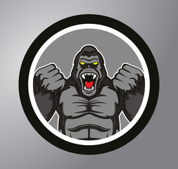 Gorilla Circle sticker