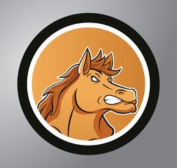 Mustang Circle sticker