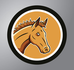 Horses Circle sticker