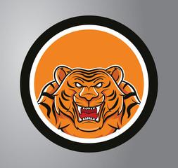 Tigers Circle sticker