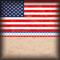 4th July US-Flag Vintage Design