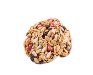 Two candied peanuts sunflower seeds.