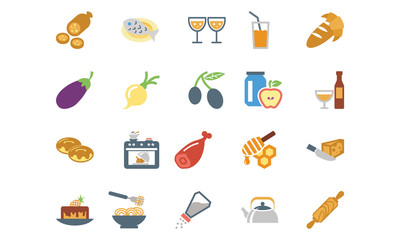 Food Colored Icons 9