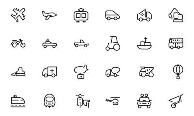 Transport Line Icons 2