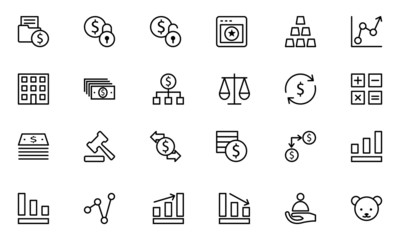 Finance Line Icons 2