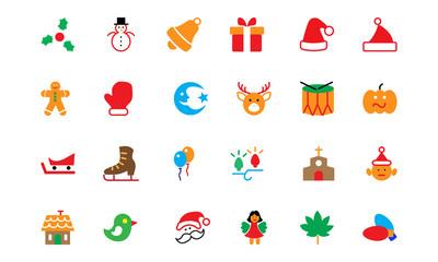 Christmas Colored Icons 2