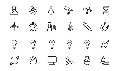 Science Line Icons 1