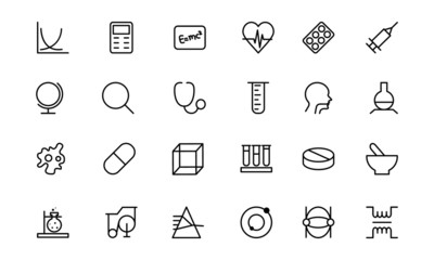 Science Line Icons 2